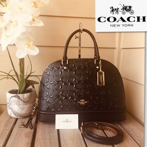 ✨Very elegant black Coach satchel LARGE size✨